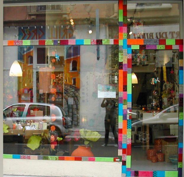 vitrine de mon 1er atelier