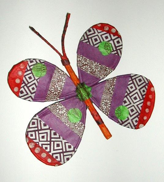 papillon en papier népalais